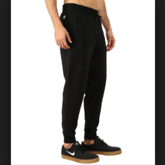 Black Jogger Sweatpants Organic Cotton